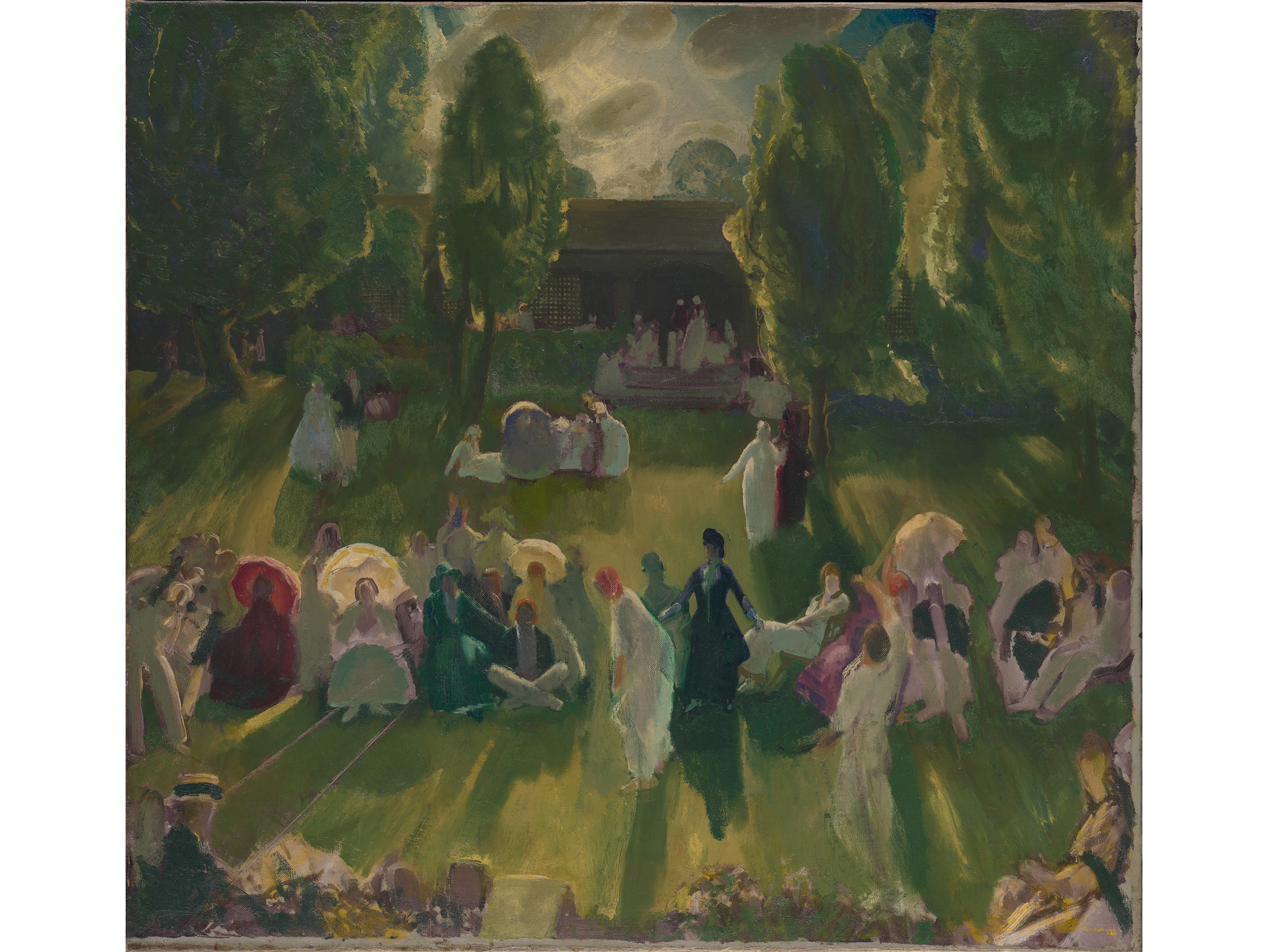Tennis at Newport (1919), George Bellows