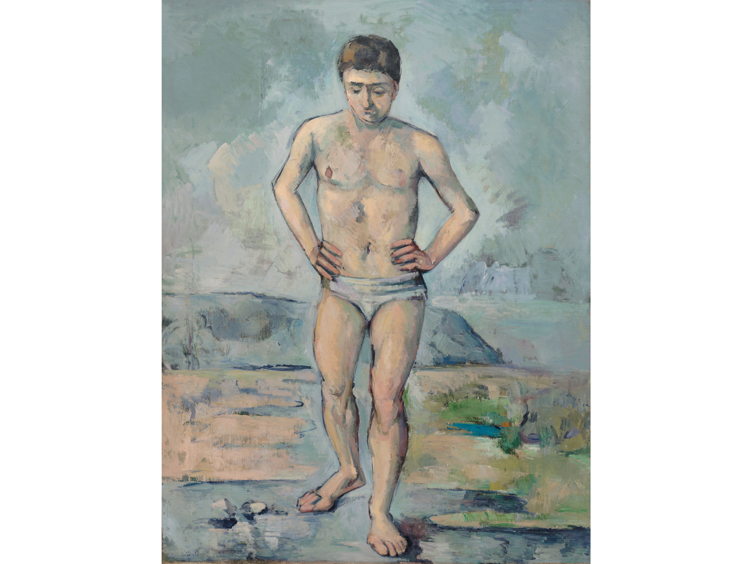 The Bather (1885), Paul Cézanne