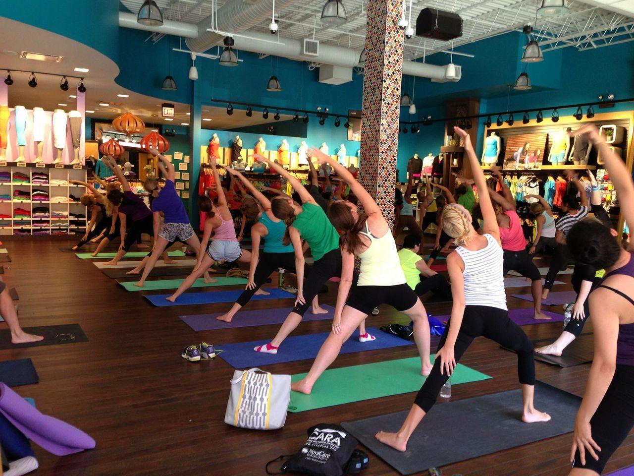 Namaste at Nine Yoga at Lululemon