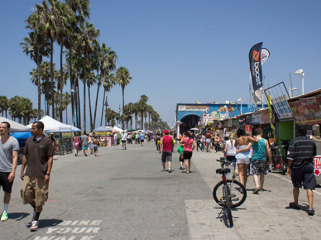 "The Venice Boardwalk is ideal for seeing bearded women, two-headed turtles and ""Treeman."""