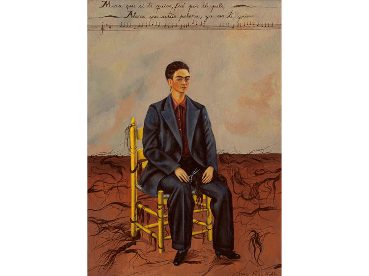 Self-Portrait with Cropped Hair (1940), Frida Kahlo