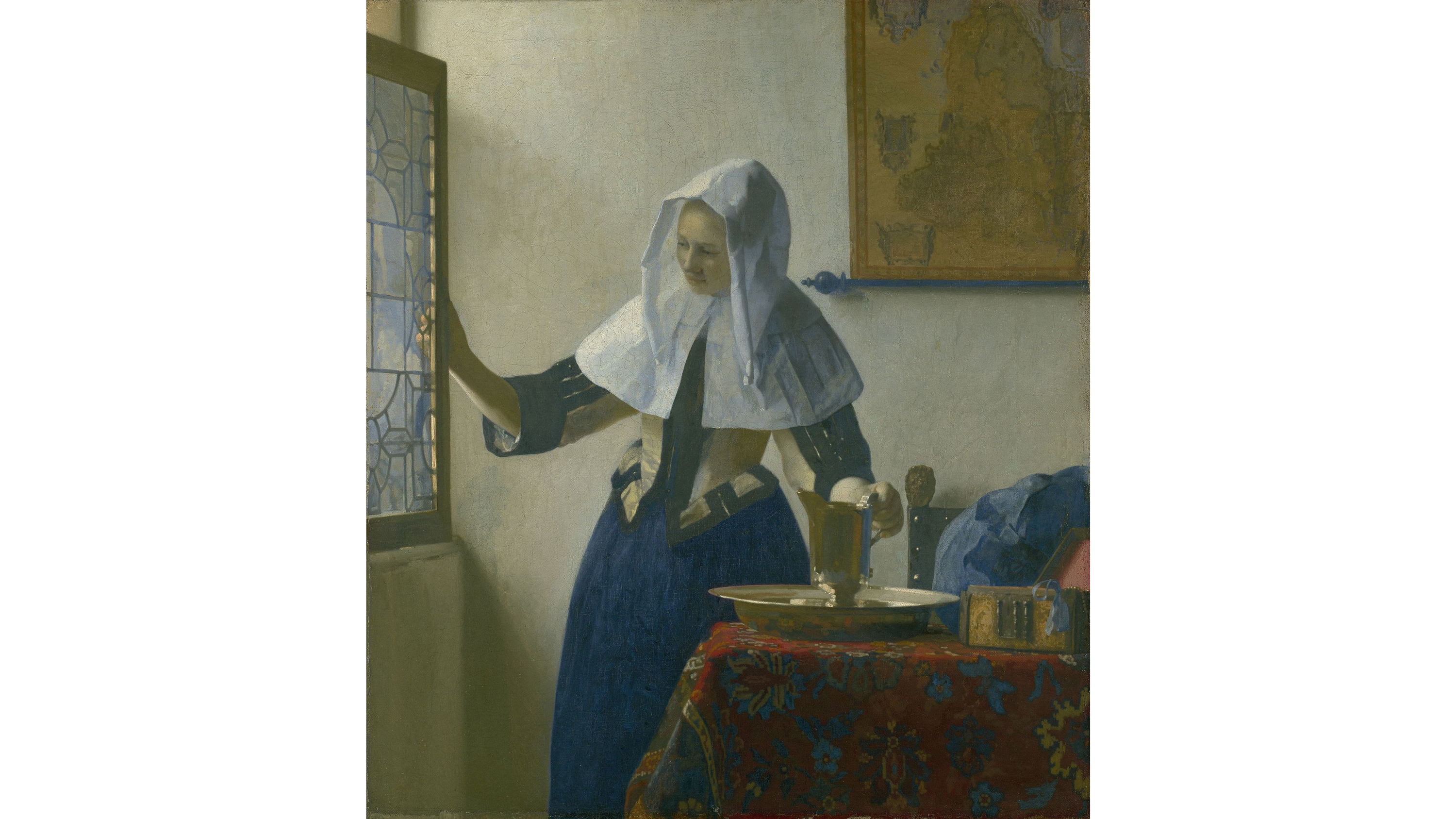 Young Woman with a Water Pitcher (1662), Johannes Vermeer