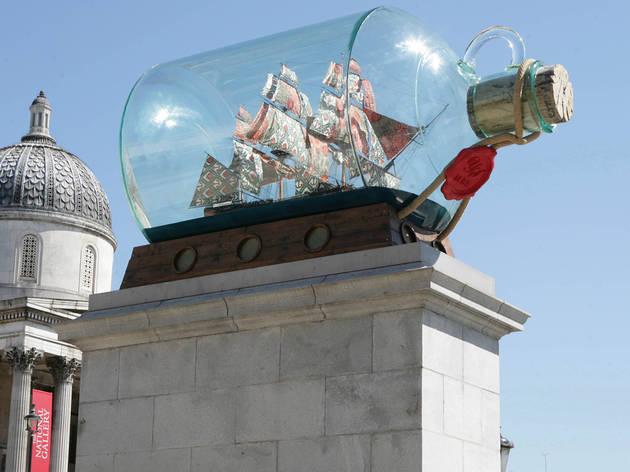 (Yinka Shonibare – Nelson's Ship in a Bottle (2010). Photo: James O Jenkins)