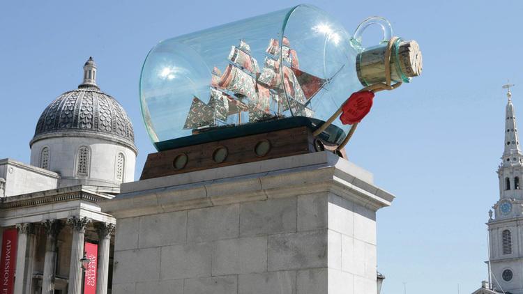 Yinka Shonibare – Nelson's Ship in a Bottle (2010). Photo: James O Jenkins