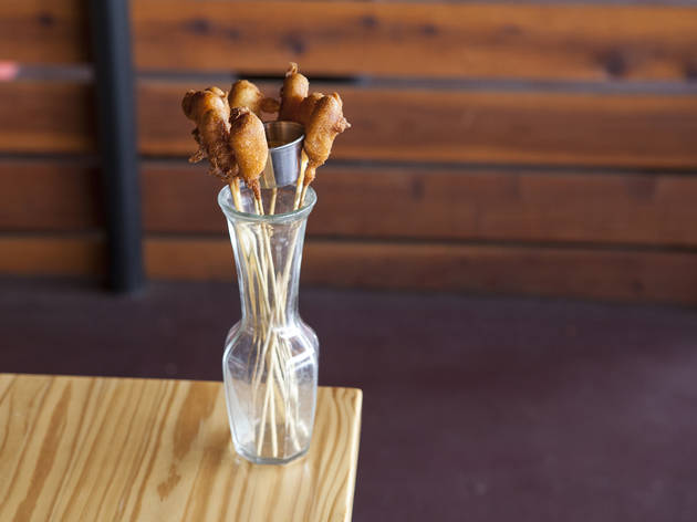 Corndog lollipops at Old School Eatery