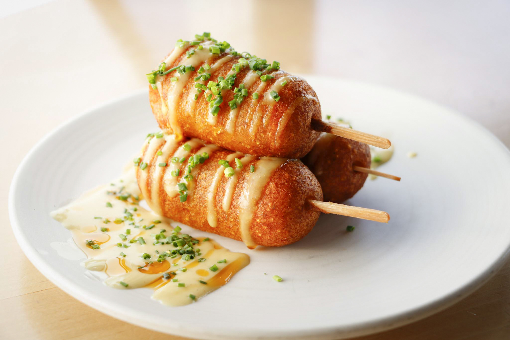 Lobster corn dogs at The Lobster