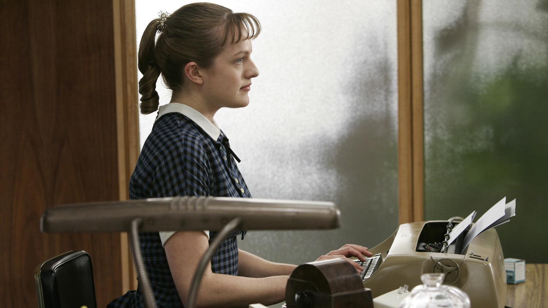 Elisabeth Moss as Peggy Olson - Mad Men - Season 1, Episode 1 - Photo Credit: Doug Hyun/AMC