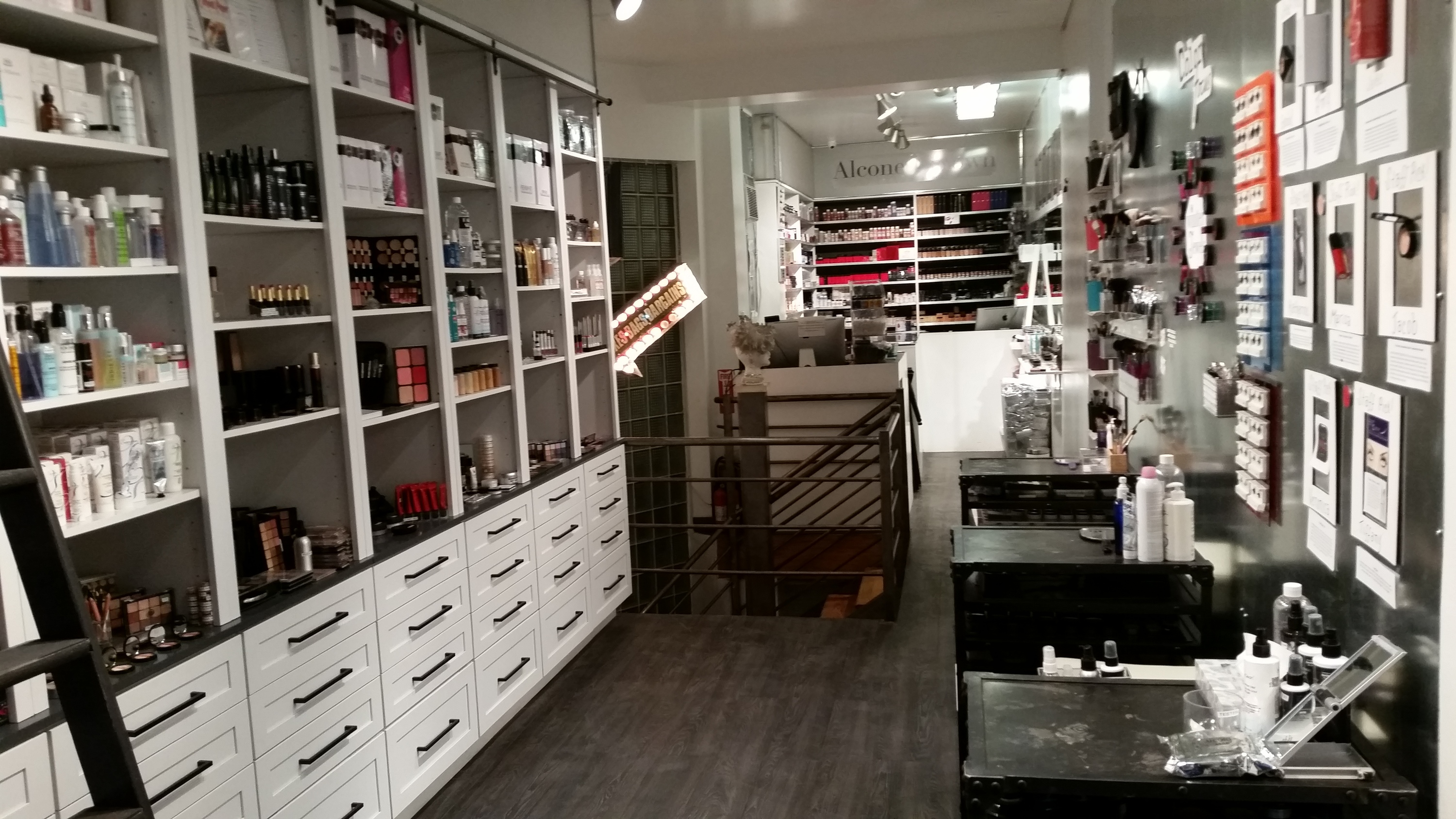 at a beauty supply store in nyc find makeup soaps and scents