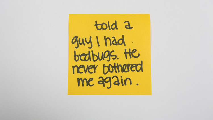 Sticky-note confessions
