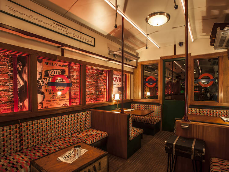 Drink on the tube at Cahoots