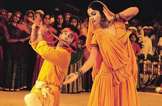 Musicians perform a Bollywood song in Hindi movie Lagaan