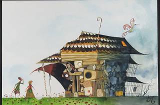 Hansel y Gretel en la biblioteca de chocolate