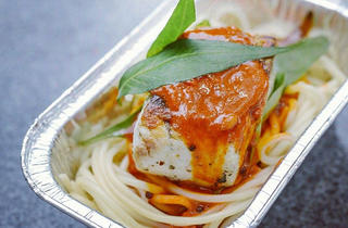 Kerbside Gourmet - Barramundi curry pasta