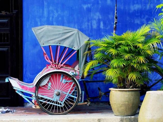 The Blue Mansion rickshaw