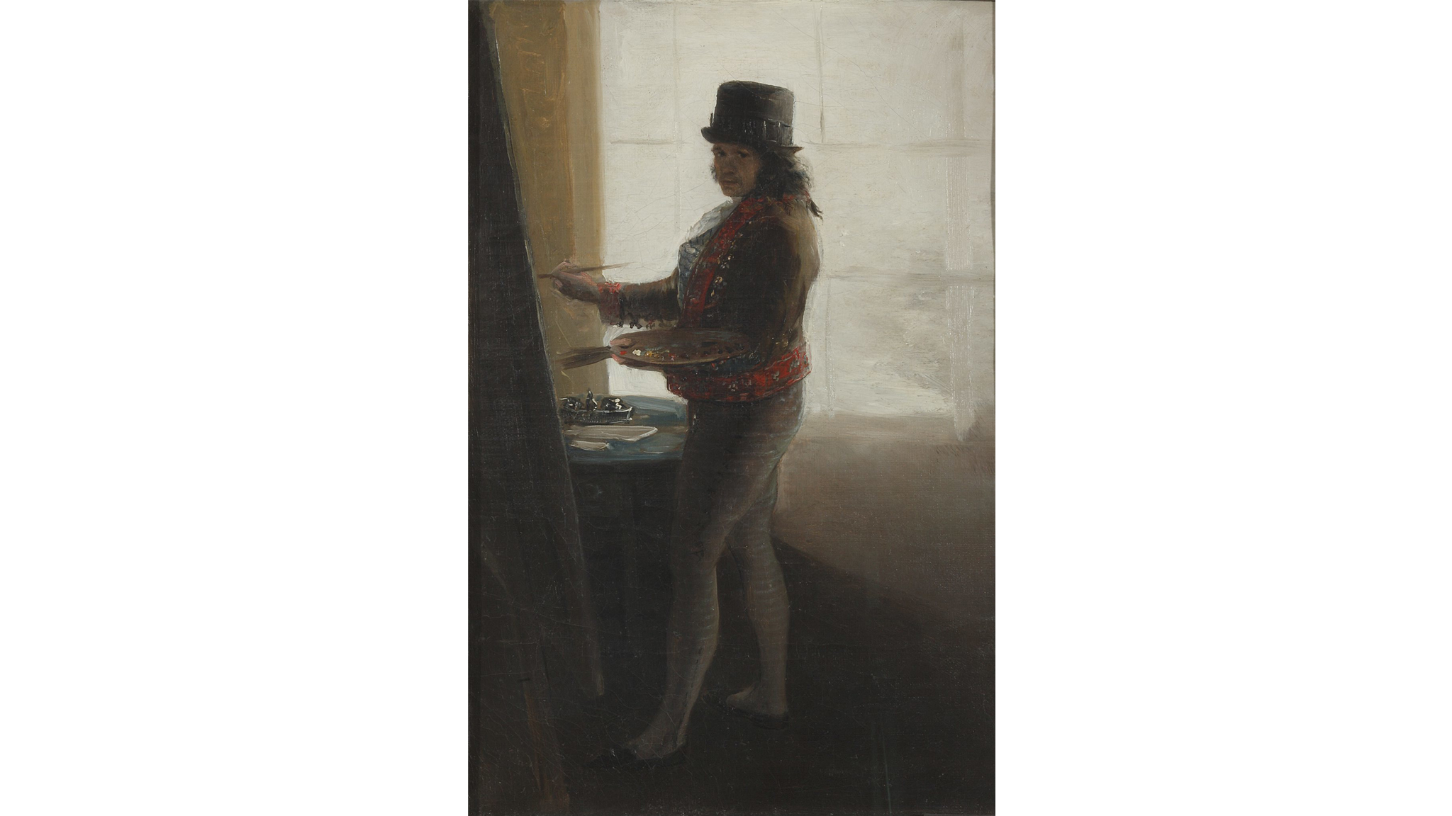 ('Self Portrait in his studio', 1793-5)