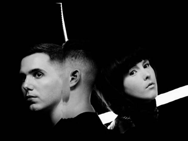 Photo of Canadian electronica duo Purity Ring