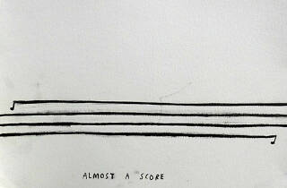 Image of artwork from Christine Sun Kim's Almost a Score exhibition