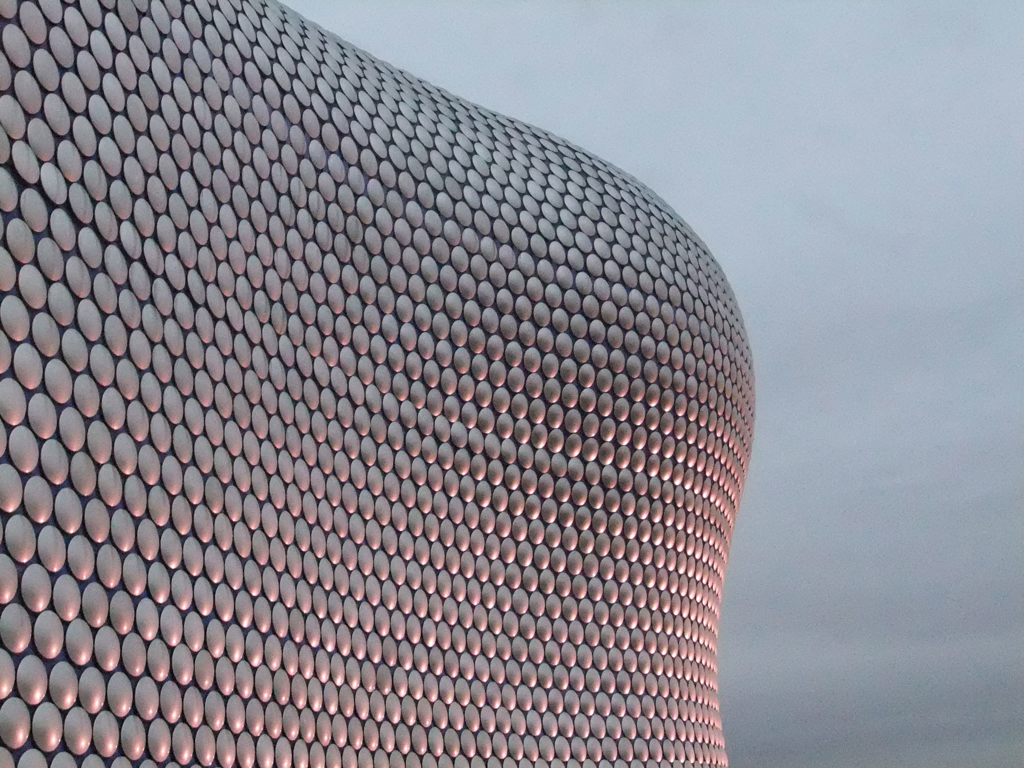 Bullring in Birmingham at sunset