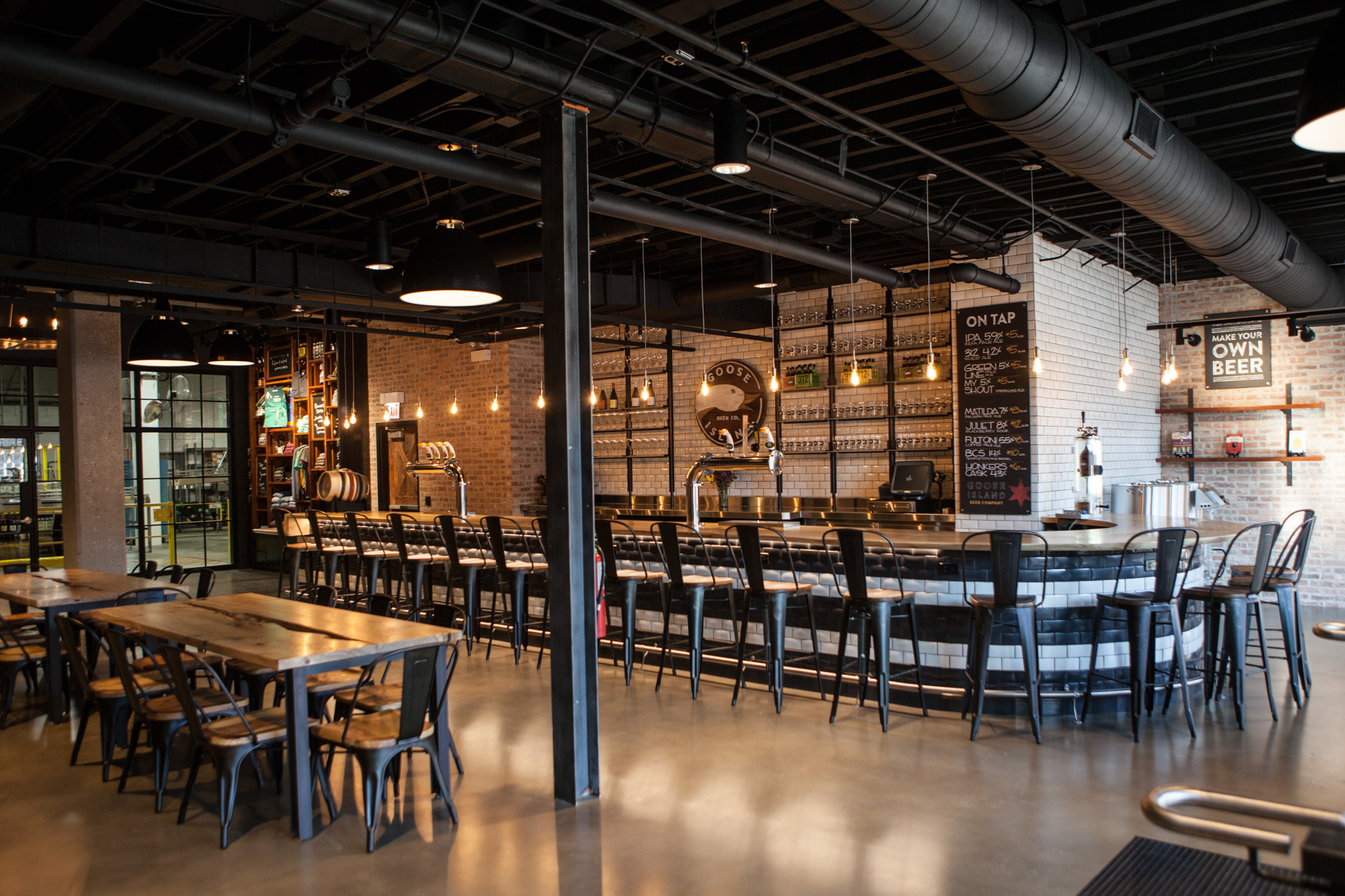 Goose Island has added a new taproom to their Fulton Market brewery.