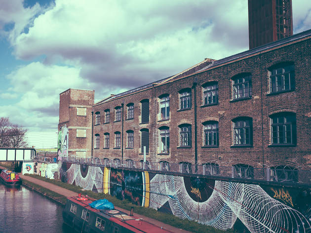 Warehouses in Hackney Wick, London