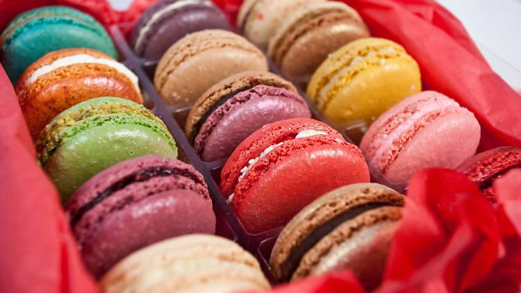 Assorted macarons at Macaron Café