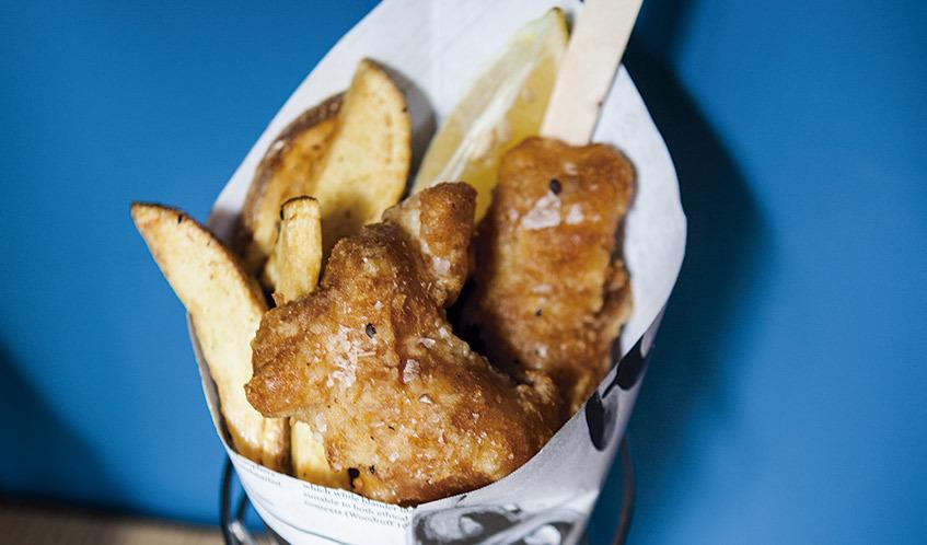 'Fish and chips' de lluç de palangre
