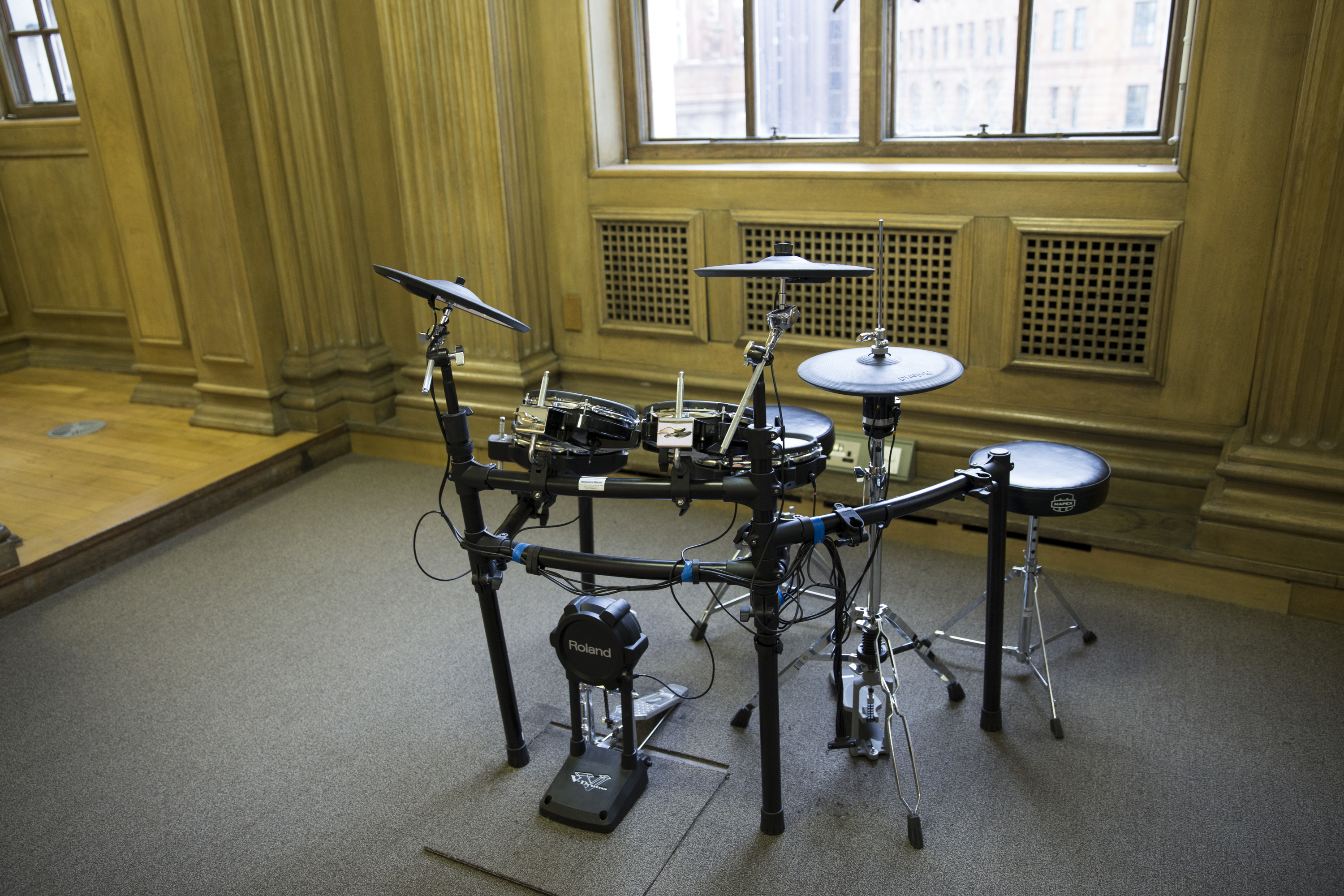 Central Library Henry Watson Music Library drumkit