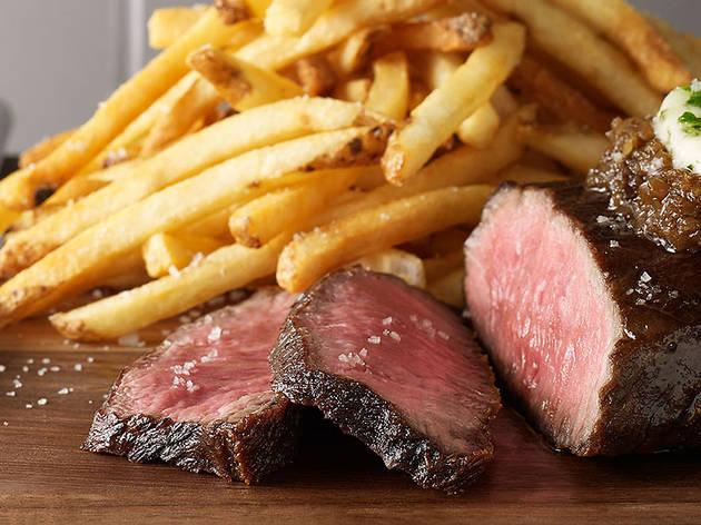 Steak Frites at Bouchon Bistro