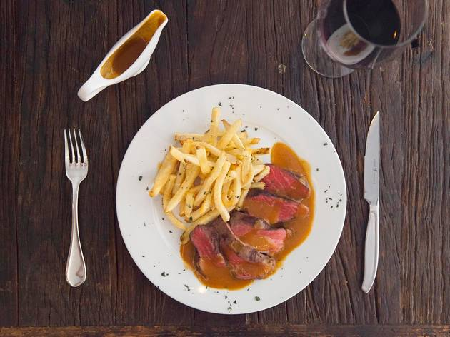 Steak Frites at L'Assiette