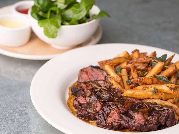 Steak frites at Tavern