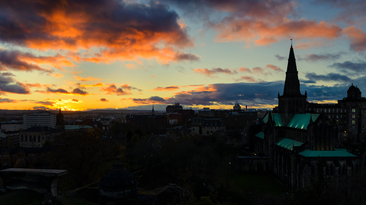 3 glasgow cathedral sunset
