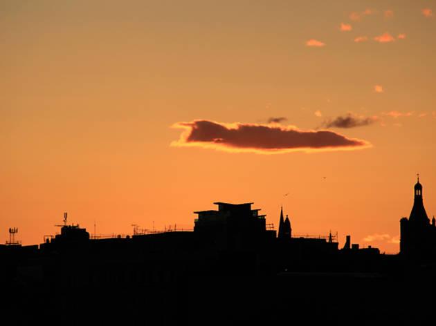 7 glasgow skyline sunset