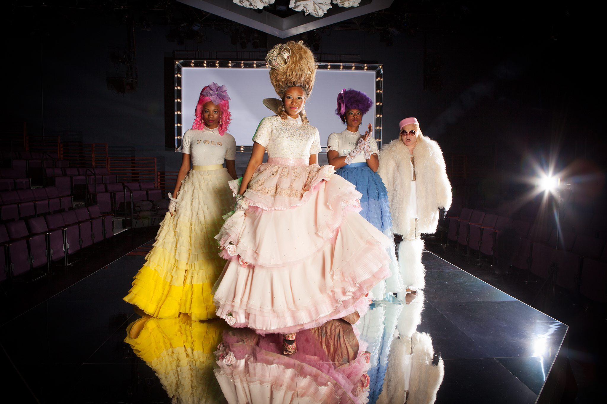 Marie Antoinette's stunning costumes at Steppenwolf Theatre