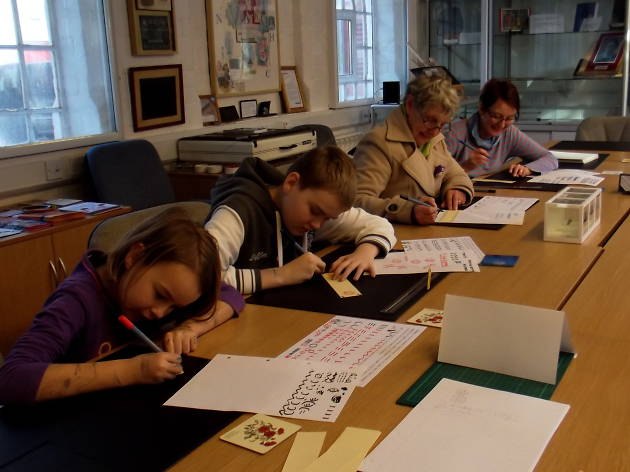 Calligraphy Demonstrations at the Pen Museum