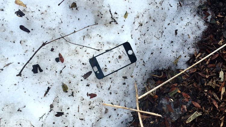 An iPhone screen