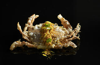 Mitzo - soft shell crab with curry floss