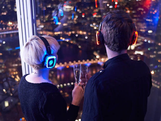 A silent disco at The View from The Shard