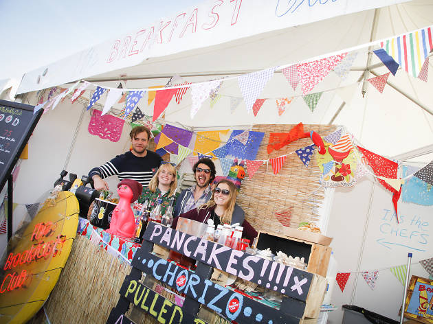 The breakfast club at foodies festival - competition