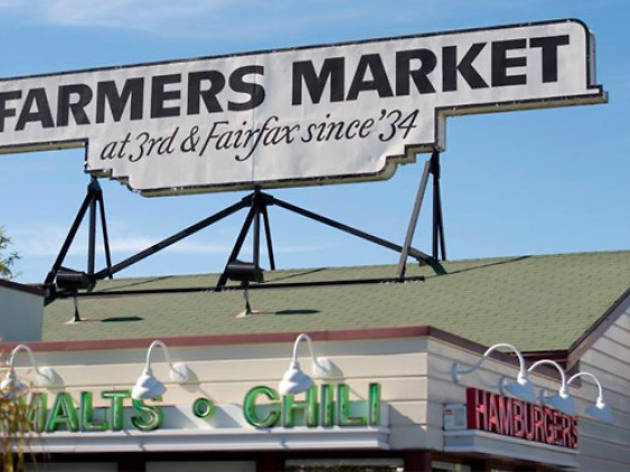 Along with green beer, the Farmer's Market on 3rd and Fairfax will have a roaming bagpipe player.