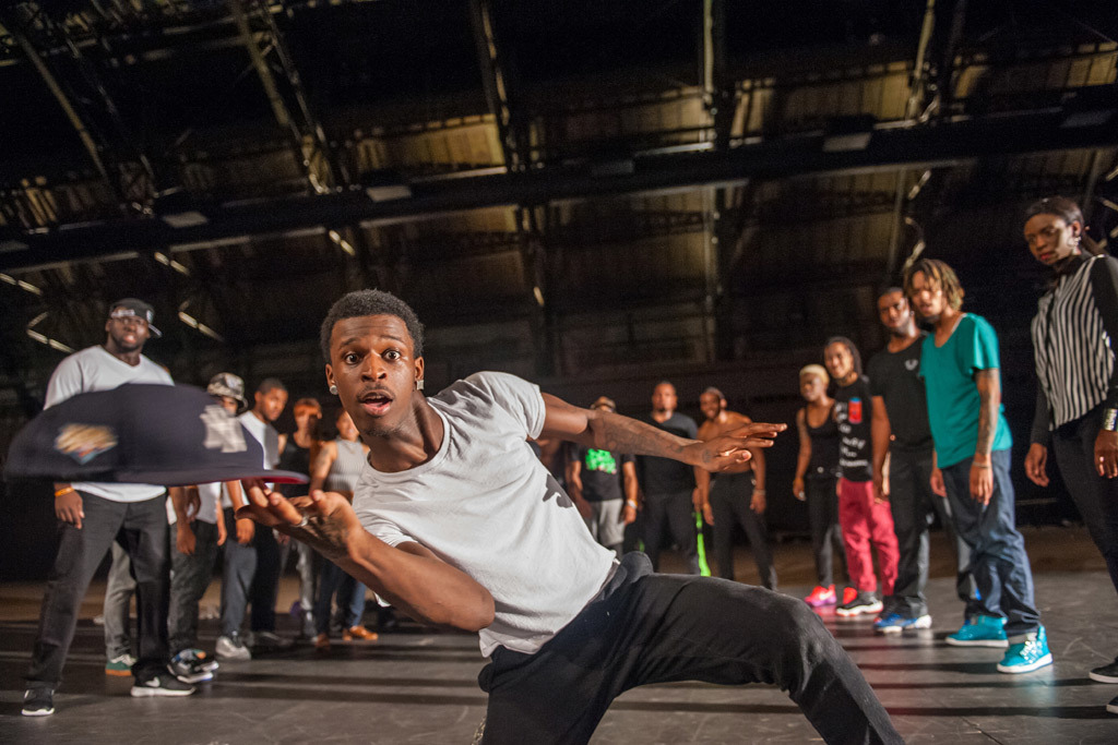 "Reggie ""Regg Roc"" Gray invades the Park Avenue Armory with his flex crew"