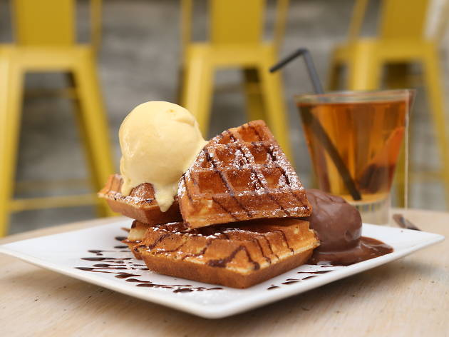 Inside Scoop ice cream waffles