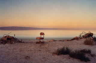 (Marcus Doyle (UK): Red Chair. Location: North Shores, Salton Sea, California)