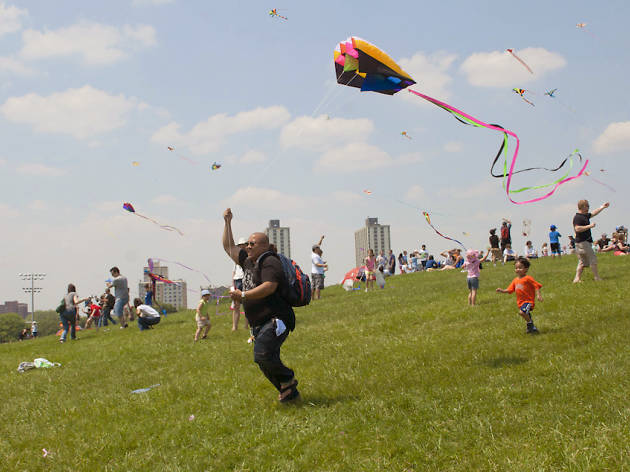 Fly a kite at Cricket Hill