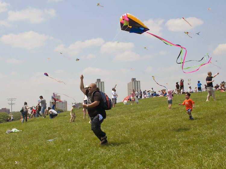 Fly a kite at Cricket Hill