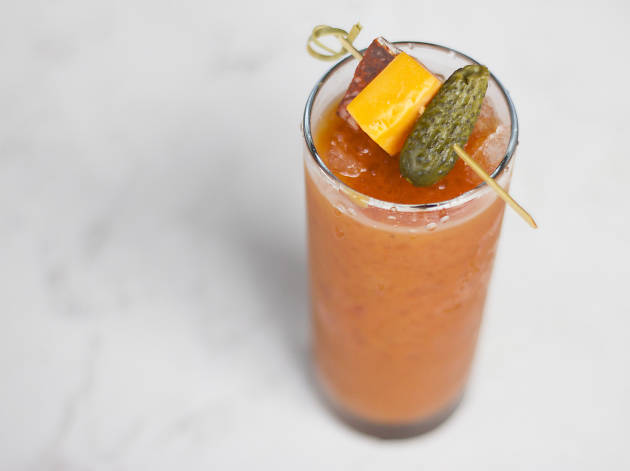 Scofflaw's Red Snapper is its take on a Bloody Mary.