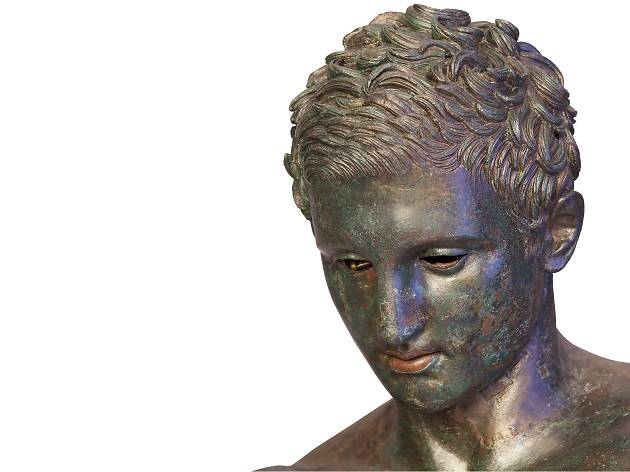 (Detail of head of Apoxyomenos. Bronze, Hellenistic or Roman replica after a bronze original from the second quarter or the end of the 4th century BC. © Tourism Board of Mali Losinj)