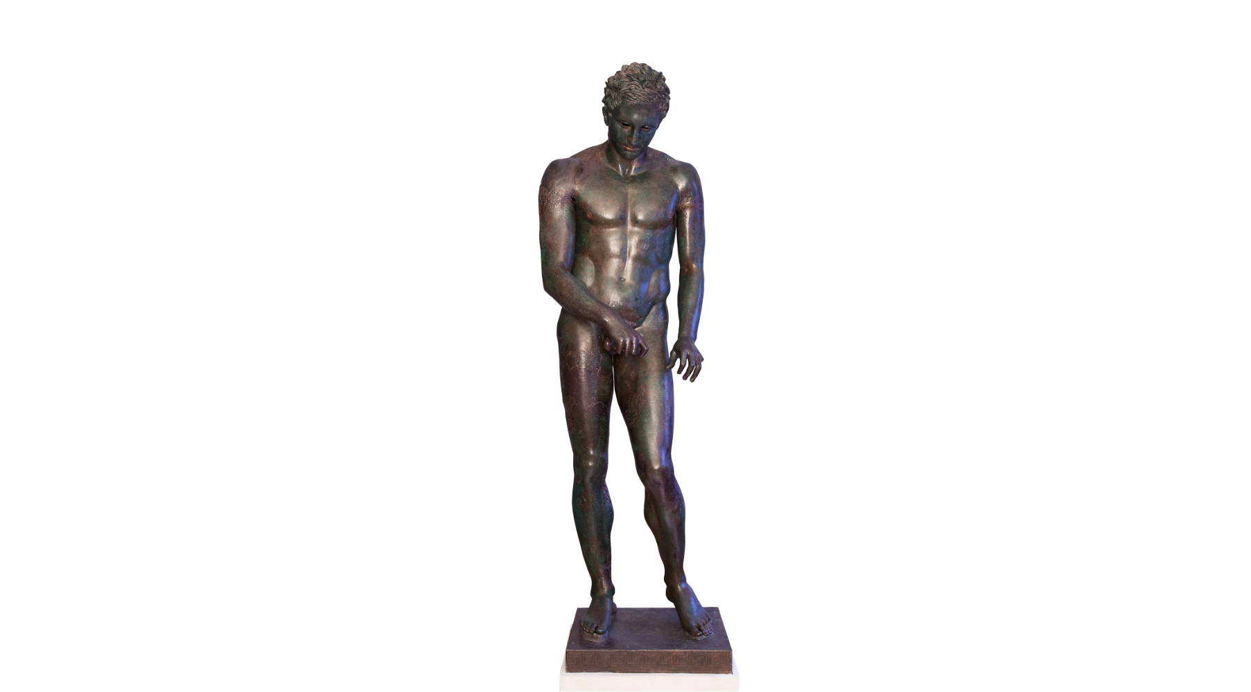 (: Apoxyomenos. Bronze, Hellenistic or Roman replica after a bronze original from the second quarter or the end of the 4th century BC. © Tourism Board of Mali Losinj)