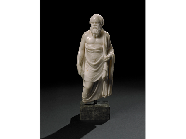 (Marble statuette of Socrates. A Hellenistic original of the 2nd century BC, or a Roman copy, Alexandria, Egypt. © The Trustees of the British Museum)