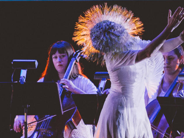 Bjork live at the Kings Theatre in Brooklyn, NY on Wednesday, March 18, 2015.
