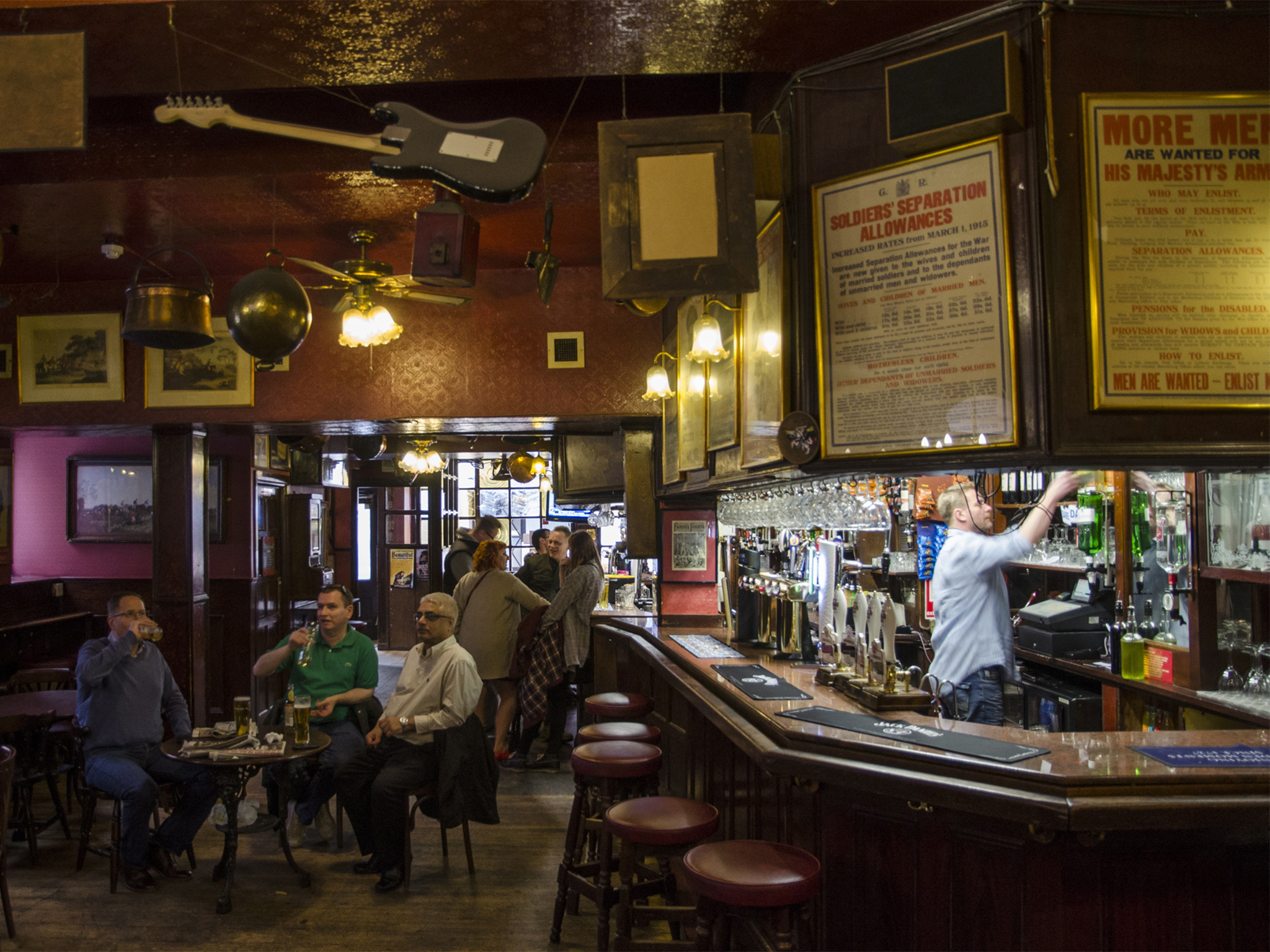 The 100 best bars and pubs in London - Old Coffee House, Soho